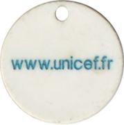Jeton de chariot Unicef – revers
