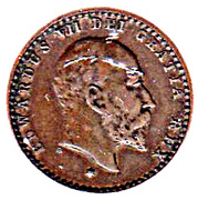 """½ farthing Edouard VII (""""coronation model"""") – avers"""