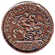 """½ farthing Edouard VII (""""coronation model"""") – revers"""