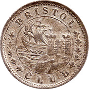 1 penny Bristol Club – avers