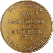 Token - City of Wheeling – revers