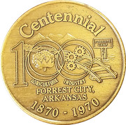 Token - Forrest City Centennial – avers