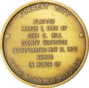 Token - Forrest City Centennial – revers