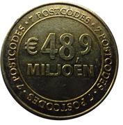 Nationale Postcode Loterij commercial token - 2013 48,9 miljoen Euro – revers