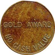 Token - The Noble Orgatisation Ltd. (Gold Award) – revers