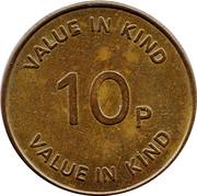 10 Pence RSV Token – revers