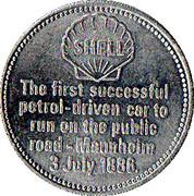 Jeton Shell - Benz 3-Wheeler 1886 – revers