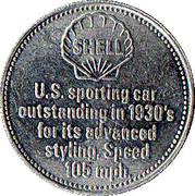 Jeton Shell - Cord 812 1937 – revers