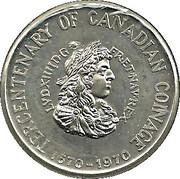 TERCENTENARY OF CANADIAN COINAGE 1670-1970 – avers