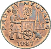 New Year Lucky Token (Sacher 1987) – avers