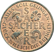 New Year Lucky Token (Sacher 1987) – revers