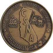 Token - California State Numismatic Association (62nd Convention) – revers
