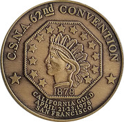 Token - California State Numismatic Association (62nd Convention) – avers