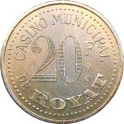 20 Francs - Casinode Royat [63] – avers