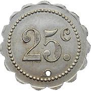 25 Centimes Société Coopérative de Nondkeil - Ottange[57] – revers