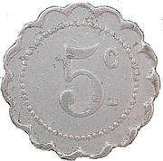 5 Centimes - Avenir Social - Saint Denis [93] – revers