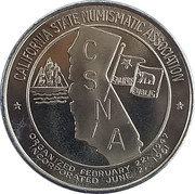 California State Numismatic Association - 45th Convention – avers