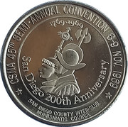 California State Numismatic Association - 45th Convention – revers