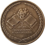 Token - Thomas County Sesquicentennial – avers