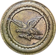 20 centime Consommation Eagle – avers