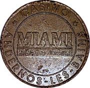 Casino Miami Andernos Les Bains 33 - 2 francs – revers