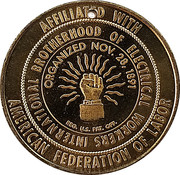 Token - International Brotherhood of Electrical Workers – avers