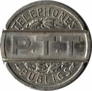 Jeton téléphonique telic PTT (cupronickel) -  revers