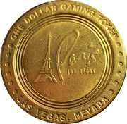 Paris 1 Dollar Casino Token – avers