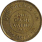 No Cash Value - Las Palmas Inn (Orlando Florida) – revers