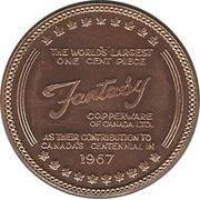 """Sudbury """"Numismatic Park""""  Promotional Medallion, 1 Cent, Copper – avers"""