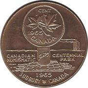 """Sudbury """"Numismatic Park""""  Promotional Medallion, 1 Cent, Copper – revers"""