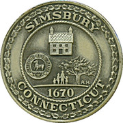 300th Anniversary Simsbury Connecticut  Silver Medal – avers