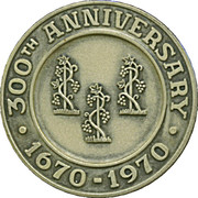 300th Anniversary Simsbury Connecticut  Silver Medal – revers