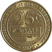25 Cents Game Token (Casino Copa Cabana - Hyatt Regency Aruba) – revers
