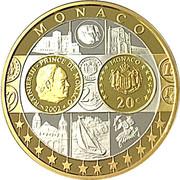 "Monaco 20 Euro 2002 ""First Strike of the Euro Countries"" – avers"