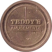 Game Token - Teddy's Amusements – avers