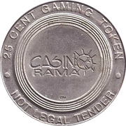 Game Token - Casino Rama (25 cent) – avers