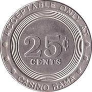 Game Token - Casino Rama (25 cent) – revers