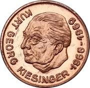 Token - Bundeskanzler der Bundesrepublik Deutschland (Kurt Georg Kiesinger) – avers
