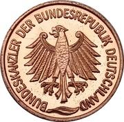 Token - Bundeskanzler der Bundesrepublik Deutschland (Kurt Georg Kiesinger) – revers