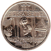Belgian Post - 50j. Koningin Elisabeth wedstrijd – avers