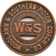 1 Fare - (Woodlawn & Southern Motor Coach Co.) – avers