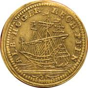 Louis XV et bateau - Höger Rechen pfennig – revers