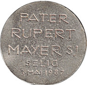 Pater Rupert Mayer – revers