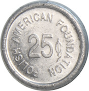 25 Cents - Polish American Foundation – revers