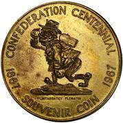 Flin Flon, Manitoba, Ontario Mining Industry - Canadian Centennial Medallion – avers