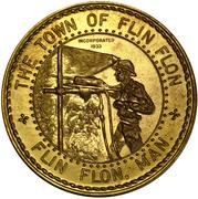 Flin Flon, Manitoba, Ontario Mining Industry - Canadian Centennial Medallion – revers