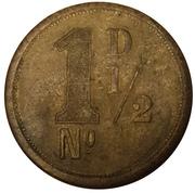 RH Hovendon & Sons London 1½ Pence – revers