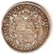 jeton maire d'Angers 1720 – avers