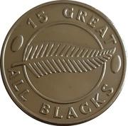 15 Great All Blacks - Bruce Robertson – revers